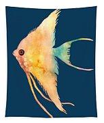 Angelfish II - Solid Background Tapestry by Hailey E Herrera