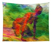 Angelie And The Kneeboard Tapestry