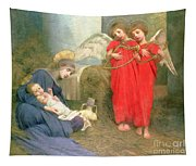 Angels Entertaining The Holy Child Tapestry