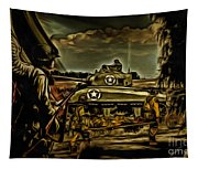 Angels On The Battlefield - Oil Tapestry