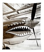 Anger Management Bw Palm Springs Air Museum Tapestry