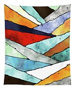 Angles Of Textured Colors Tapestry