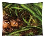 Animal - Wild - Cute Little Chipmunk  Tapestry