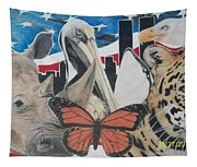 Animals Of Freedom  Tapestry