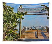 Anna Maria City Pier Landmark Tapestry