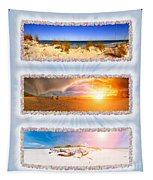 Anna Maria Island Beach Collage Tapestry