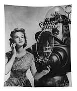Anne Francis Movie Photo Forbidden Planet With Robby The Robot Tapestry