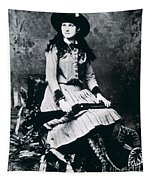 Annie Oakley  Star Of Buffalo Bill's Wild West Show Tapestry