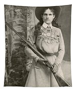 Annie Oakley With A Rifle, 1899 Tapestry