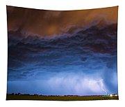 Another Impressive Nebraska Night Thunderstorm 008/ Tapestry