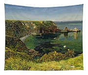 Anstey's Cove In Devon Tapestry