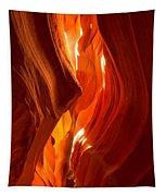 Antelope Canyon Wavy Abstract Tapestry