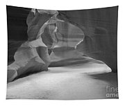 Antelope Slot Canyon Black And White Tapestry