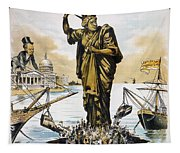 Anti-immigration Cartoon Tapestry