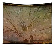 Antique Amber Golden Tree Tapestry