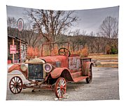 Antique Car And Filling Station 1 Tapestry