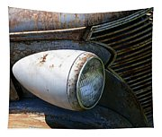 Antique Car Headlight Tapestry