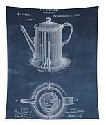 Antique Coffee Pot Patent Tapestry