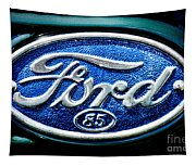 Antique Ford Badge Tapestry