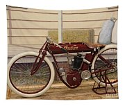 Antique Indian Motorcycle Red...   # Tapestry