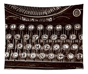Antique Keyboard - Sepia Tapestry
