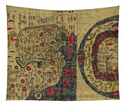 Antique Maps - Old Cartographic Maps - Antique Map Chinese Map Of The World, Ming Era Tapestry