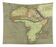 Antique Maps - Old Cartographic Maps - Antique Map Of Africa Tapestry
