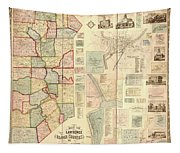 Antique Maps - Old Cartographic Maps - Antique Map Of Lawrence And Beaver Counties, 1860 Tapestry
