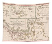 Antique Maps - Old Cartographic Maps - Antique Map Of The Strait Of Magellan, South America, 1787 Tapestry