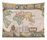Antique Maps - Old Cartographic Maps - Antique Map Of The World Tapestry