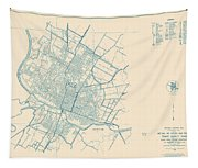 Antique Maps - Old Cartographic Maps - Antique Map Of Travis County, Texas, 1936 Tapestry