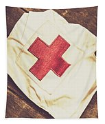 Antique Nurses Hat With Red Cross Emblem Tapestry
