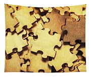 Antique Puzzle Of Missing Links Tapestry