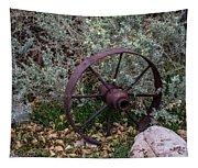 Antique Steel Wagon Wheel Tapestry