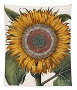 Antique Sunflower Print Tapestry