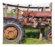 Antique Tractor Tapestry