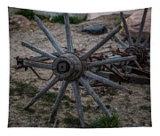 Antique Wagon Wheel Tapestry