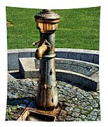 Antique Water Fountain Tapestry