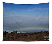 Anuenue - Rainbow At The Ahinahina Ahu Haleakala Sunrise Maui Hawaii Tapestry