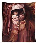 Apache Girl And Papoose Tapestry