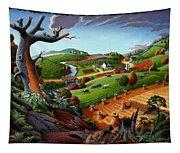 Appalachian Fall Thanksgiving Wheat Field Harvest Farm Landscape Painting - Rural Americana - Autumn Tapestry