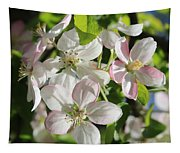 Apple Blossoms Square Tapestry