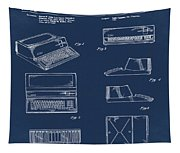 Apple Macintosh Patent 1983 Blue Tapestry