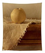 Apple Pear On A Table Tapestry by Priska Wettstein