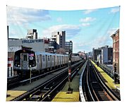 Approaching Myrtle Avenue Tapestry