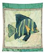 Aqua Maritime Fish Tapestry