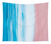 Aqua Pink Abstract Painting Tapestry