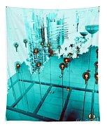 Aqua Reflections Tapestry
