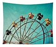 Aquamarine Dream - Ferris Wheel Art Tapestry