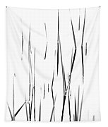 Aquatic Reeds Black And White Tapestry